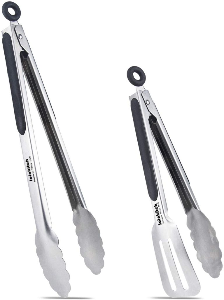 Joinkitch Easy-Flip Grill Tongs Set