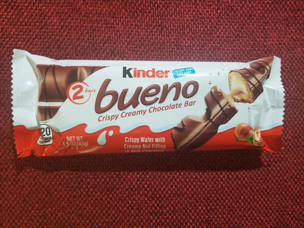 Photo of Kinder candy bar included in EveryPlate box