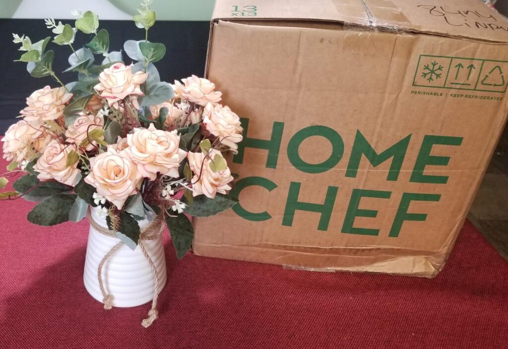 Home Chef meal delivery service box
