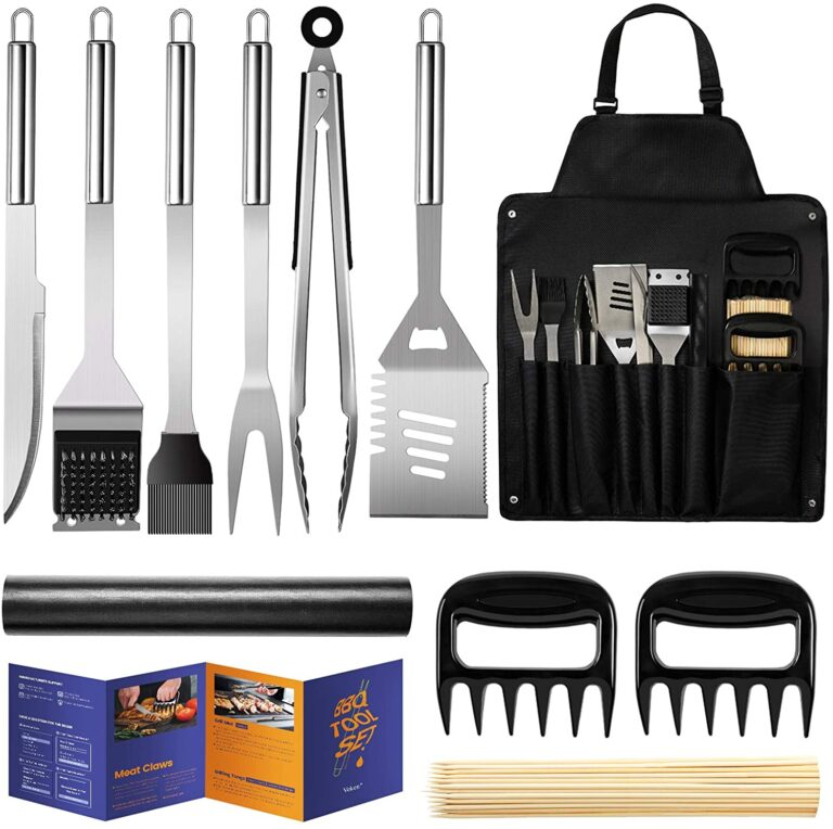 Veken BBQ Grill Accessories, Stainless Steel BBQ Tools Set