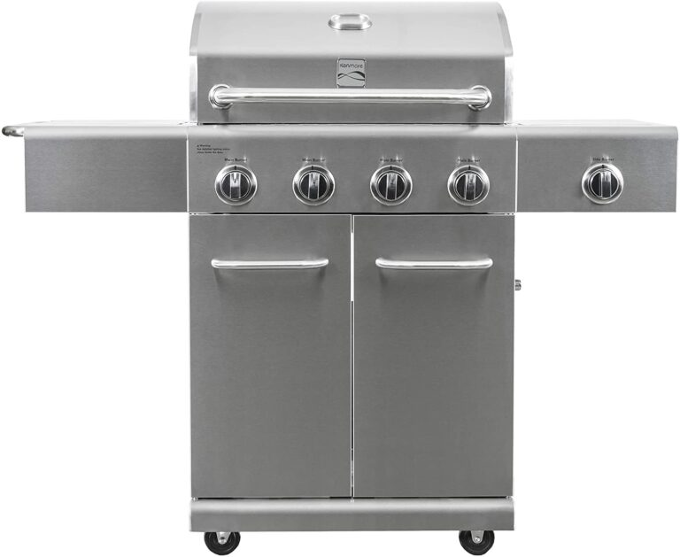 Kenmore PG-40405S0LA-AM 4 Outdoor Patio Propane Grill with Side Burner